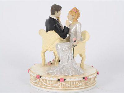 bruidspaar    zittend