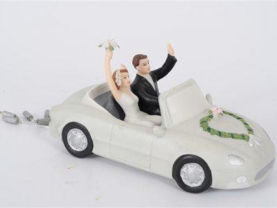 bruidspaar   auto