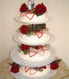 bruidstaart echte bloem