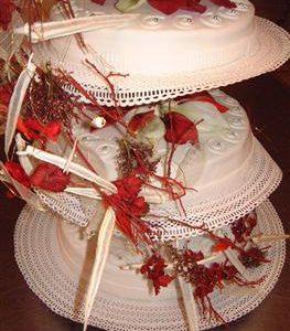 bruidstaart echte bloem 3