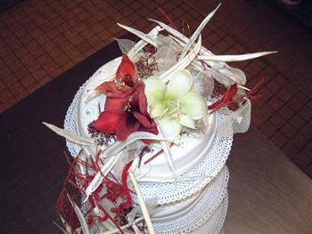 bruidstaart echte bloem 5