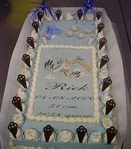geboorte taart jongen marsepein groot