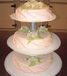 gedrapeerde bruidstaart