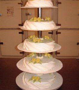 gedrapeerde bruidstaart 6