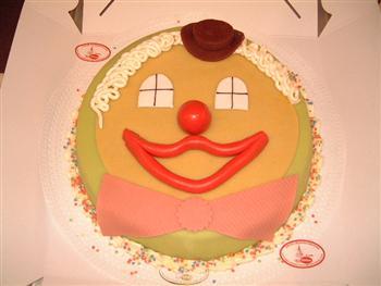 marsepein clownskop taart