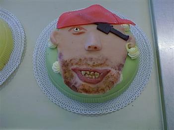 marsepeine piratenkop taart