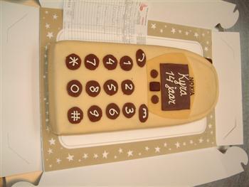 mobiele telefoon taart