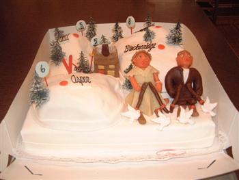 wintersport taart